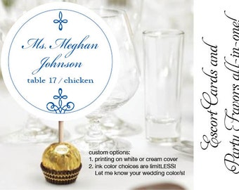 Ferrero Rocher Wedding Reception Chocolate Truffles Escort or place cards card party favor favors were designed with chocolate in mind!