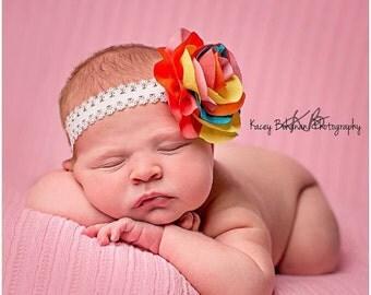 10% off SALE Baby headband, newborn headband, adult headband, child headband and photography prop COLORBURST headband
