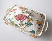Small Vintage French Faience Vegetable Dish Transferware