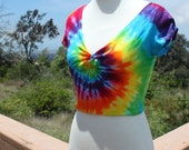 Tie dye twisted front Crop Top