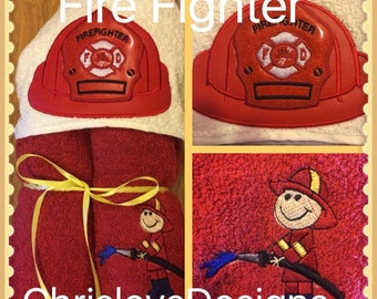 Fire fighter hooded towels