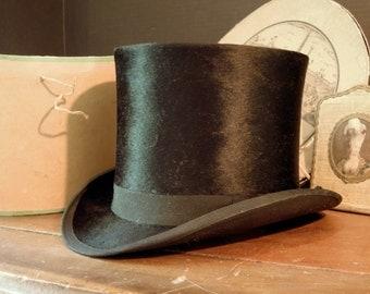 Antique 1889 Exposition Universelle Beaver Hat / Original Hat Box / Belle Époque / Mode de Paris/ Parisian Hat / Made in France / Sauvage /