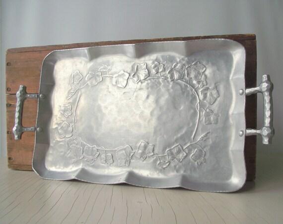 Vintage Aluminum Tray Everlast Forged Aluminum Serving Tray