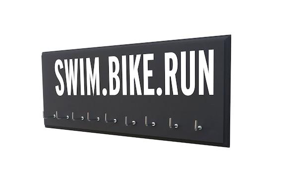 triathlon - triathlon medal holder - triathlon gifts - triathlon art - gifts for him - gifts for dad - gifts for friends - gifts for brother