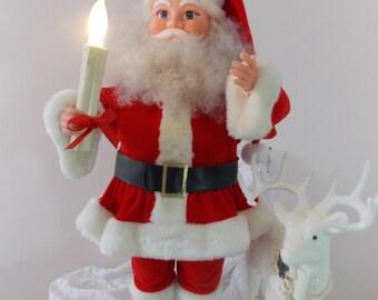 Vintage Animated Santa with Lights