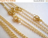 50% OFF Moving Sale - 5sets Antiqued Gold Plate Metal Chain 400mm C-59