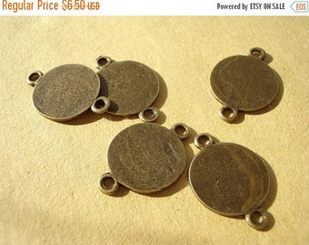50% OFF Moving Sale - 50 Bulk Antiuqed Bronze/ Connector Pendant (Two Holes) B537