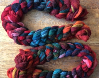Polwarth Roving - Hand-Dyed