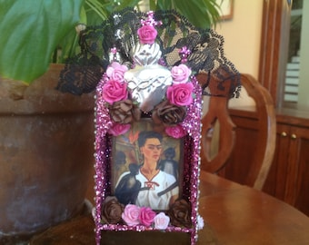 Frida Kahlo Nicho, Shrine, Altar Piece