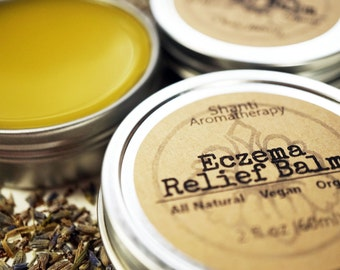Eczema Soothing Balm for Dry and Irritated Skin - 2oz Tin - Handmade, All Natural, Vegan