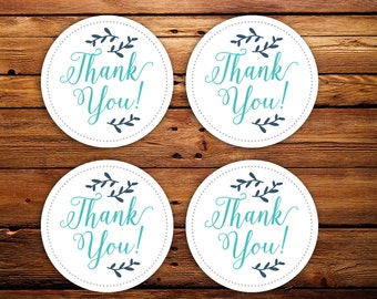 """Thank You stickers, Round Business stickers, Stickers with your logo, 2"""" round stickers for business, Branding stickers, Sheets of 20"""