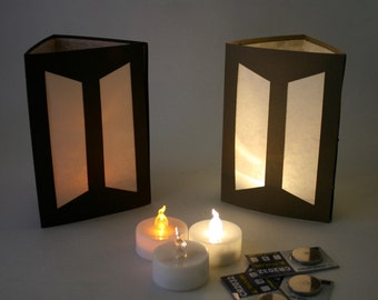 Battery Powered Tea Lights in Amber or Warm White Perfect for Paper Luminaries