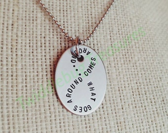 Karma Necklace - Infinity Necklace - What Goes Around Comes Around