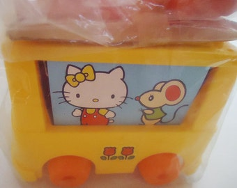 1976 Sanrio Hello Kitty Play Set. Bus and accessories