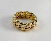 Special Order for srikki03 - SOLID YELLOW 18 kt GOLD Cuban Curb Link Ring