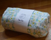 Flannel Fitted Crib Sheet -  I Love Mommy I love Daddy - SALE