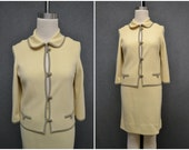 1960s St. Andrews Wool Knit Jacket and Skirt