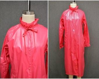 1960s Pink Aqua-Sheen Raincoat