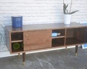 Kasse TV Stand - Solid Brown Maple - Nordic Walnut Finish - custom for Corey