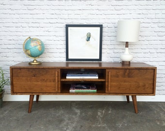 Kasse TV Stand - Solid Cherry -  Teak Finish
