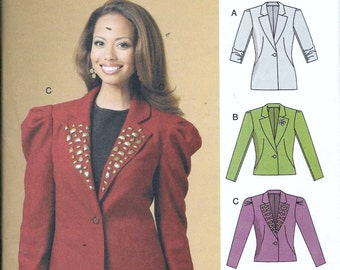 Butterick B5530 Ladies Blazer Lined Fitted Jacket Sewing Pattern 5530 Plus Size 14, 16, 18, 20 and 22 UNCUT