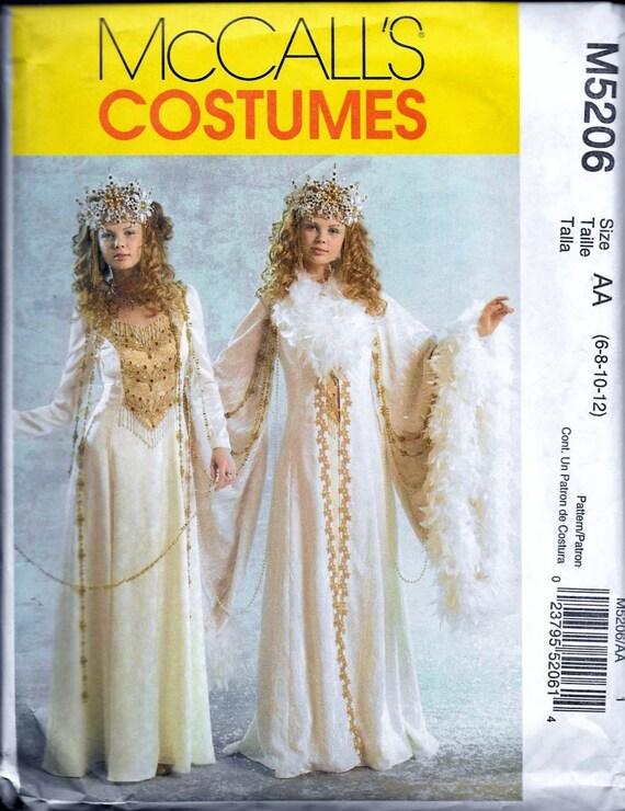 Mccall m5206 misses 39 robe reine des neiges robe costume - Ren des neige ...