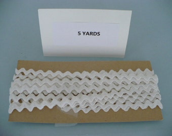 5 Yards Vintage White Cotton Rick Rack