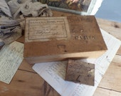 Old french wooden boxes ...for postage  Mail