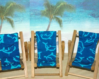 SALE Small Blue Turquoise Dolphin Cell Phone Chair Mamakohawaii
