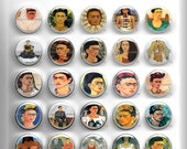 25 BUTTONS 1inch or 1.25 inch Circle Round Pin Back, Magnet, Flat Back, or Hollow Back. Frida Khalo 1