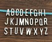 """2 sets  Antique Silver Letter 26 Alphabet  letters """"A-Z """" Charms Pendant C6737"""
