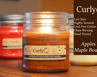 Apples and Maple Bourbon 8oz Soy Candle ~ Heavily Scented!