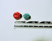 Novelty Buttons, Lady Bug Buttons, Craft Buttons