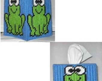 Frog Tissue Box Cover Plastic Canvas Pattern