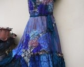 "20%OFF bohemian gypsy lagenlook bridesmaid hippy shabby dress ...medium to 42"" bust"