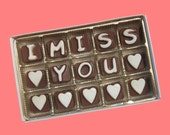 Personalize Long Distance Anniversary Love Greeting Gift for Men Him Her Women I Miss You Custom Name Cubic Chocolate Letters AK APO Canada