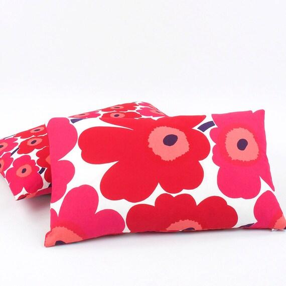 Marimekko Throw Pillow Covers : Marimekko Red Lumbar Pillow Cover 12x20 Red by ChloeandOliveDotCom