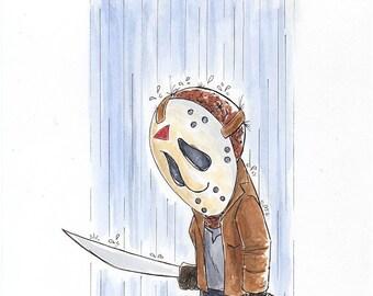 Li'l Jason Voorhees Watercolor