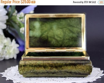 Alabaster Box, Genuine Made in Italy, Trinket Jewelry Keepsake, Small Vanity Storage 13392