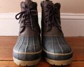 Winter Wonderland. .. Vintage Men's Judith Sport Duck Boots Size 7, Rubber Boots, Leather Boots, Duck Boots