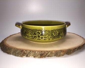 Vintage Green Asian Rice/Soup Bowl