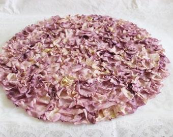 "Round Lavender Rose Petal Mat 14"" Weddings / Centerpiece / Showers / Garden Party"