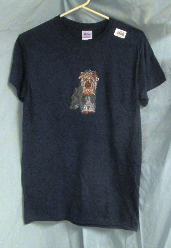 Yorkshire terrier yorkie tee shirts embroidered by