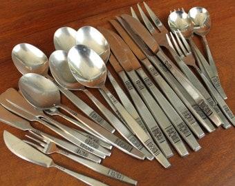 Vintage Flatware: marked Stainless Steel Japan MADEIRA T.M. Teaspoons BIN 40