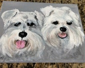 Pet Lovers have your best friend painted on canvas in acrylics