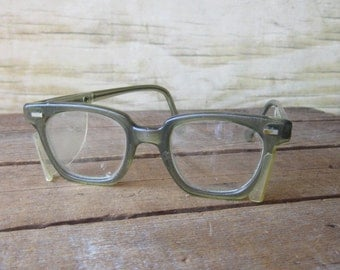 Vintage Safety Glasses with Side Shields