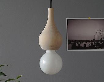 Wood Pendant lamp KIT 03 Minimal Design Lights Hanging Flowing Wood lamp