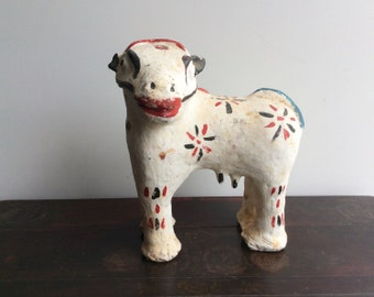 Folk Art Terra Cotta Cow Shipping Included in the U.S.