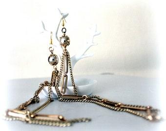 extra long gold earrings- chain earrings