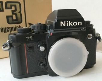 NIkon F3 Camera, Vintage Nikon Camera, Vintage Film Camera, Nikon  F3HP 35mm SLR, Mint Nikon F3